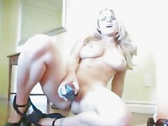 Sydney Moon masturbates with dildo 01