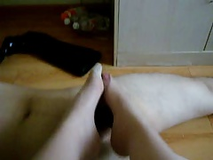 my wife nylon footjob!!!